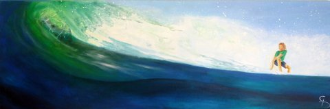 Catching a Wave Acrylics $350