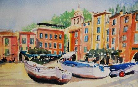 Portofino Watercolour 22x29 $400.00