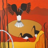 Ibis at the Billabong Acrylic on canvas 92 cm H x 92 cm W $750.00